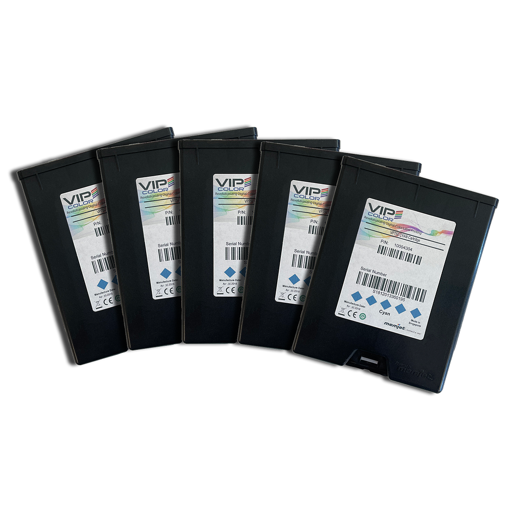 VIPColor VP-750-AS02A CYAN INK CARTRIDGE (C) - 5 PACK  (VP750)