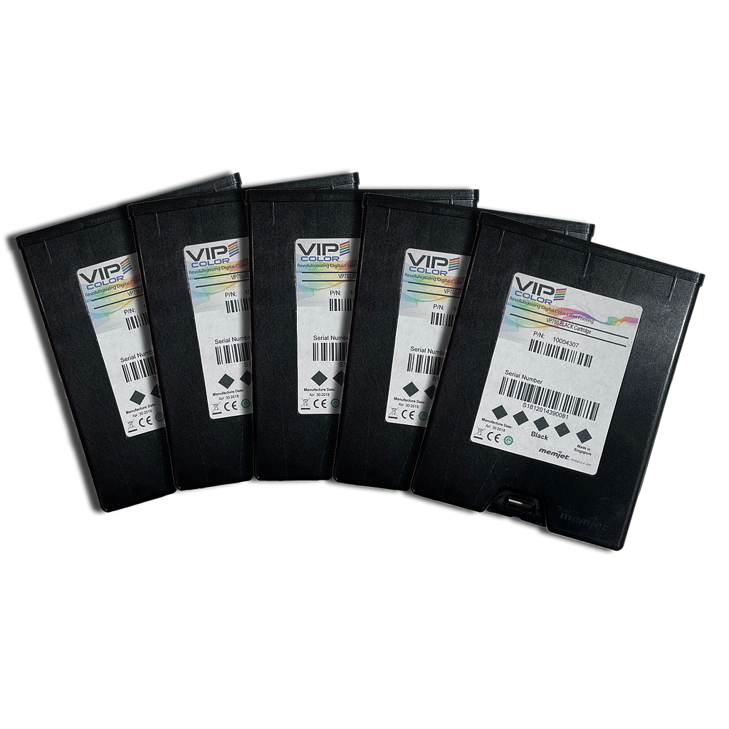 VIPColor VP-750-AS05A BLACK INK CARTRIDGE (K) - 5 PACK  (VP750)